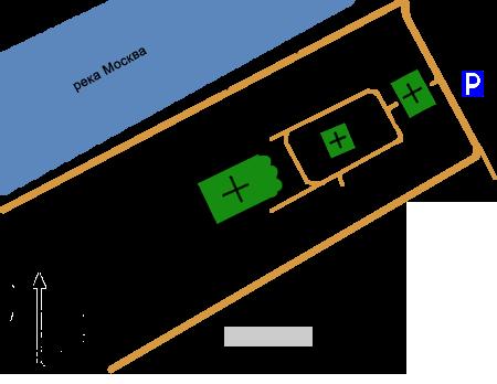 План Андреевского монастыря, Москва