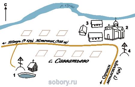 План Савватьевой пустыни,Савватьево