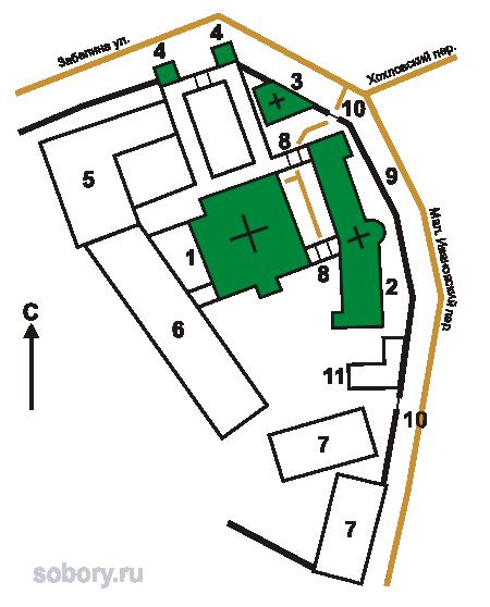 В Храмы и часовни монастыря: