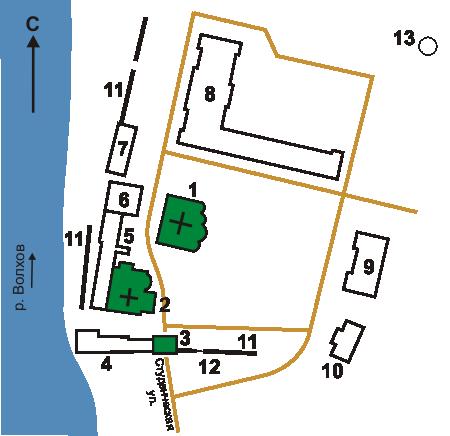 План Антониева монастыря, Великий Новгород