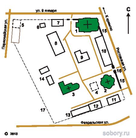 План Богоявленского монастыря в Угличе