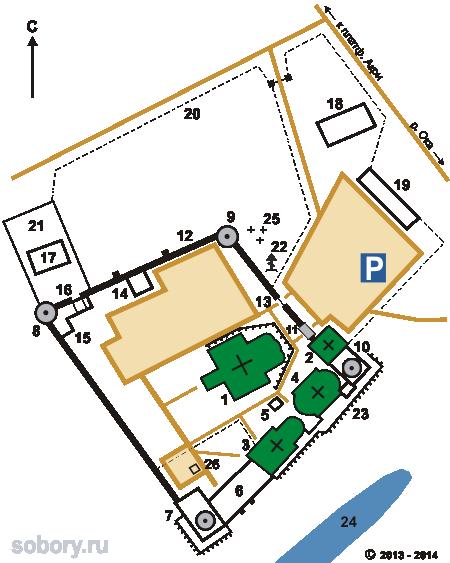 План Свято-Троицкого Белопесоцкого монастыря