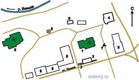 План Аркадиевского монастыря,Вязьма, Смоленская область