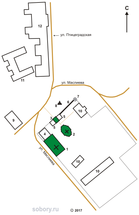 План Спасо-Вифанского монастыря