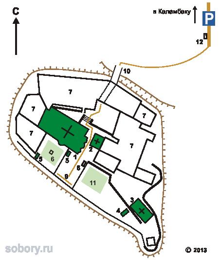 План монастыря святого Стефана