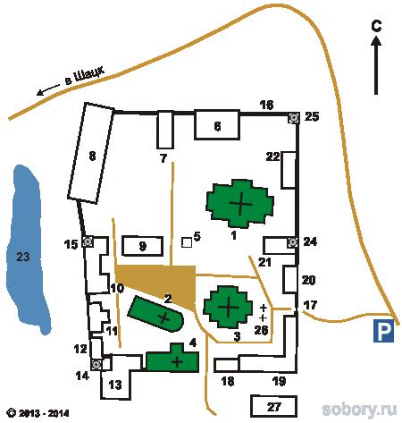 План Успенского Вышенского монастыря