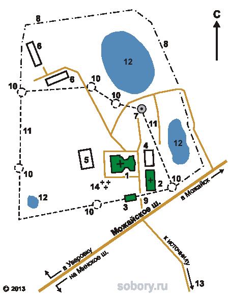 План Колоцкого Успенского монастыря