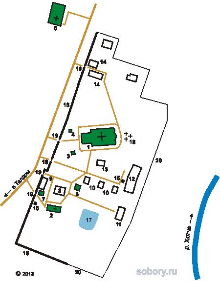 План Александро-Невского монастыря в Маклаково