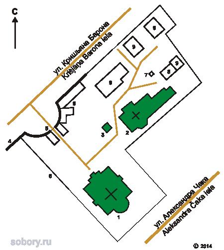 План Рижского Троице-Сергиева монастыря