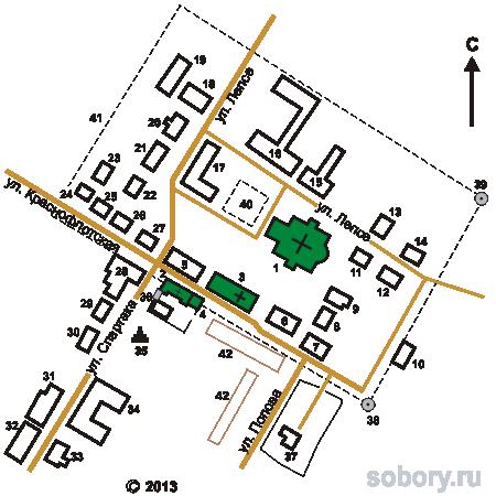 План Выксунского Иверского монастыря