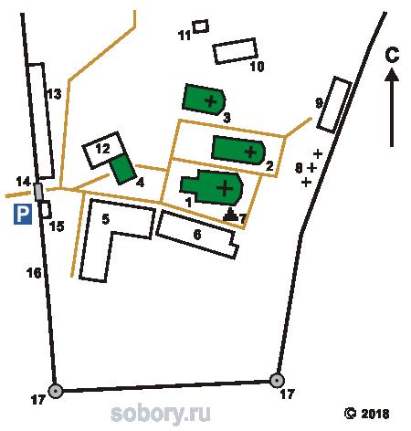 План Рыльского Николаевского монастыря