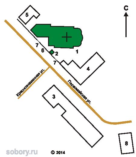 План Знаменского монастыря в Коврове