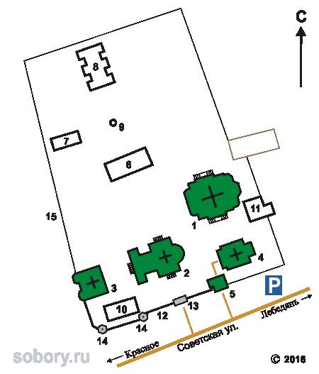 План Троекуровского Дмитриевского Илларионовского монастыря