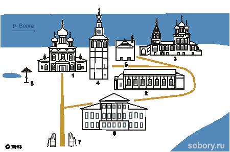 Схема угличского кремля