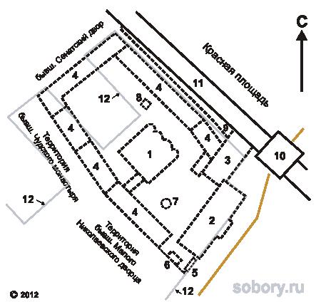 План Вознесенского женского монастыря,Москва