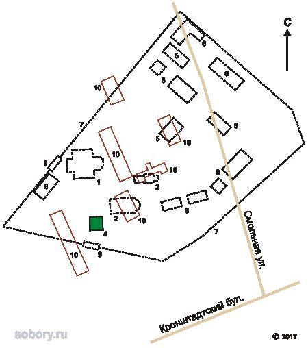 План Головинского монастыря в Москве