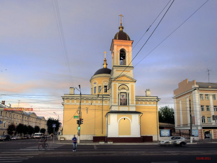 Тверская область, Тверь, город, Тверь. Собор Вознесения Господня, фотография. общий вид в ландшафте