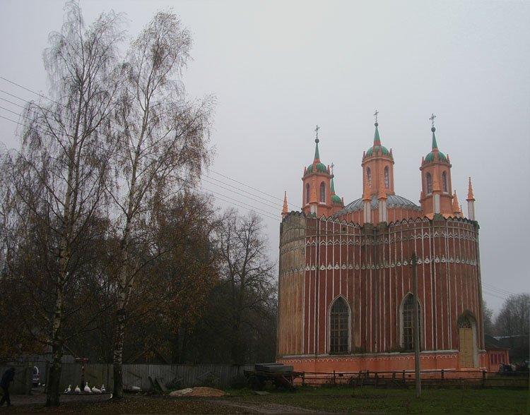 Тверская область, Старицкий район, Красное. Церковь Спаса Преображения, фотография. фасады,