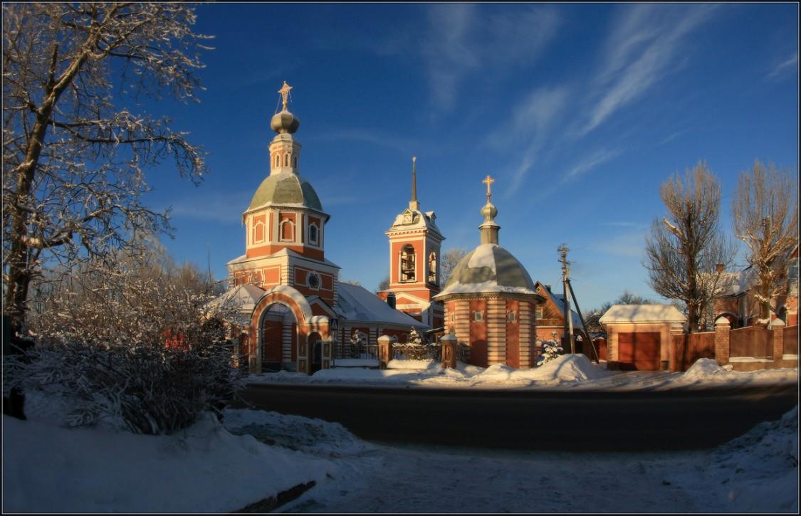 Московская область, Сергиево-Посадский городской округ, Иудино. Церковь Рождества Христова, фотография. общий вид в ландшафте