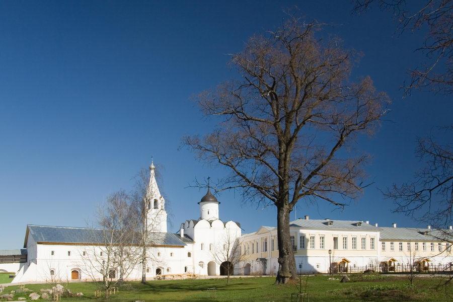 Вологодская область, Вологда, город, Прилуки. Спасо-Прилуцкий мужской монастырь, фотография. фасады