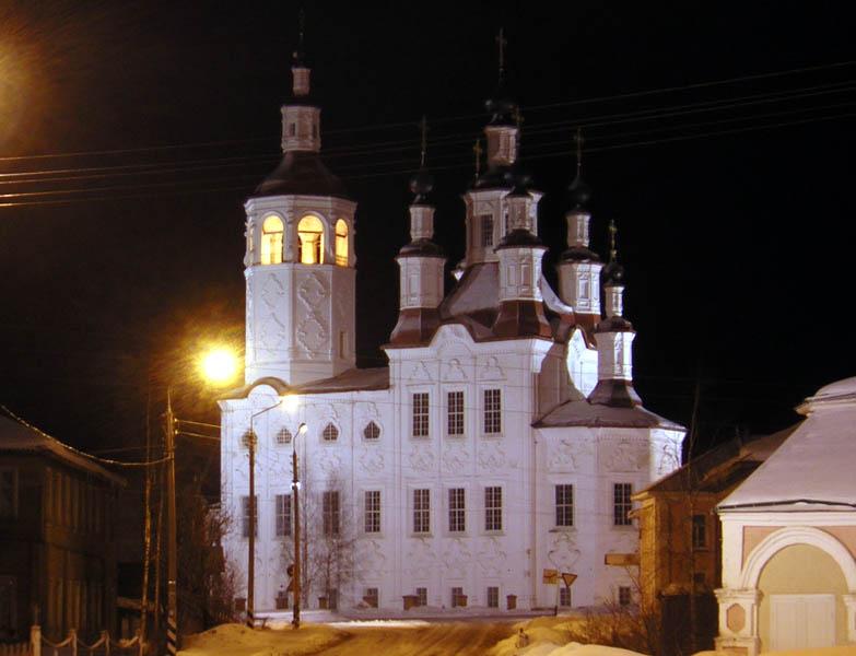 Вологодская область, Тотемский район, Тотьма. Церковь Входа Господня в Иерусалим, фотография. художественные фотографии,