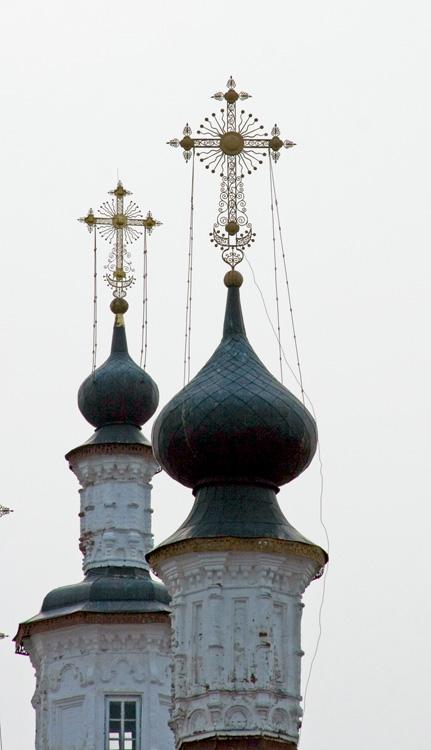 Вологодская область, Тотемский район, Тотьма. Церковь Входа Господня в Иерусалим, фотография. архитектурные детали