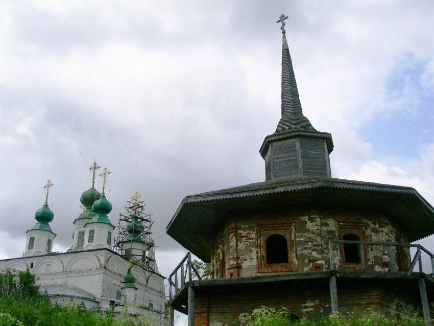Вологодская область, Великоустюгский район, Морозовица. Троице-Гледенский монастырь, фотография. фасады, вид с северо-востока