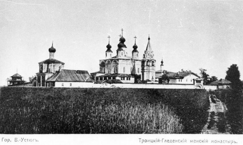 Вологодская область, Великоустюгский район, Морозовица. Троице-Гледенский монастырь, фотография. архивная фотография