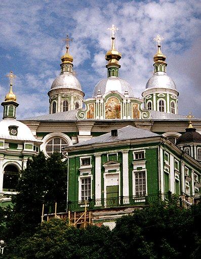 Смоленская область, Смоленск, город, Смоленск. Кафедральный собор Успения Пресвятой Богородицы, фотография. фасады,