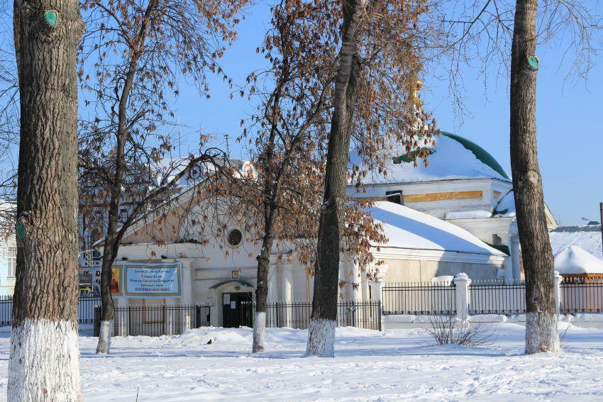 Ярославская область, Ярославль, город, Ярославль. Церковь Похвалы Божией Матери, фотография. общий вид в ландшафте