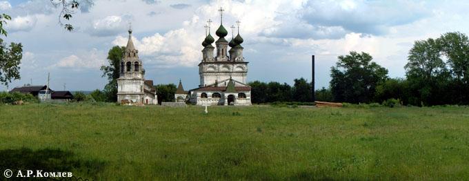 Владимирская область, Муромский район и г. Муром, Муром. Воскресенский монастырь, фотография. общий вид в ландшафте, Общий вид с западной стороны