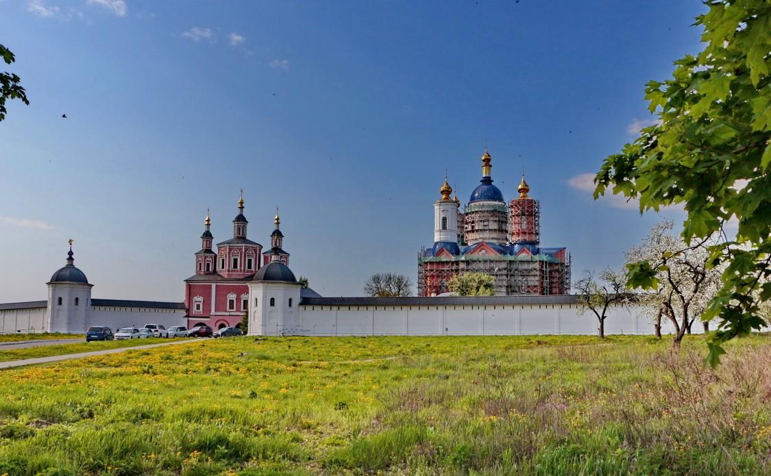 Брянская область, Брянский район, Супонево. Свенский Успенский монастырь, фотография. общий вид в ландшафте