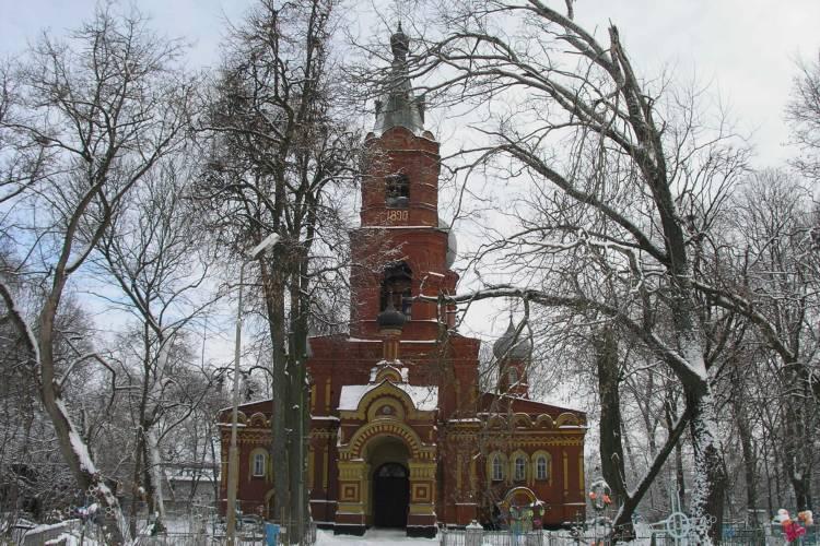 Брянская область, Трубчевский район, Трубчевск. Церковь Илии Пророка, фотография. общий вид в ландшафте