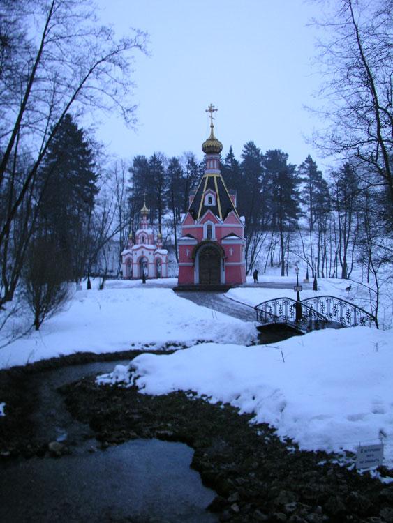 Московская область, Чеховский городской округ, Талеж. Церковь Давида Серпуховского, фотография. общий вид в ландшафте,