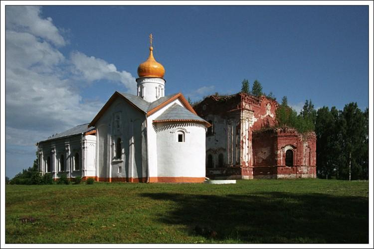 Новгородская область, Старорусский район, Косино. Никольский Косинский монастырь, фотография. фасады