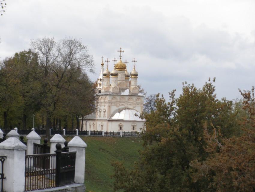 Рязанская область, Рязань, город, Рязань. Церковь Спаса Преображения на Яру, фотография. общий вид в ландшафте, Вид со стороны Кремля