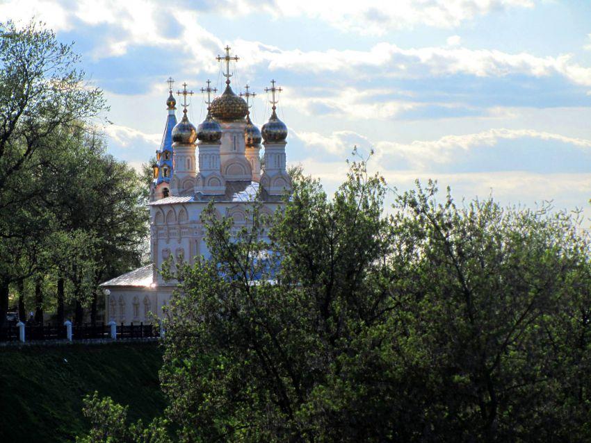 Рязанская область, Рязань, город, Рязань. Церковь Спаса Преображения на Яру, фотография. фасады, вид с востока