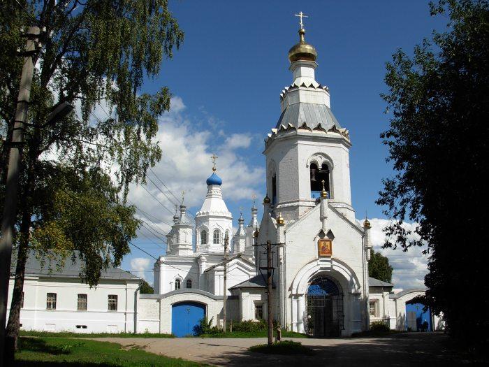 Тульская область, Тула, город, Тула. Богородичный Щегловский монастырь, фотография. общий вид в ландшафте