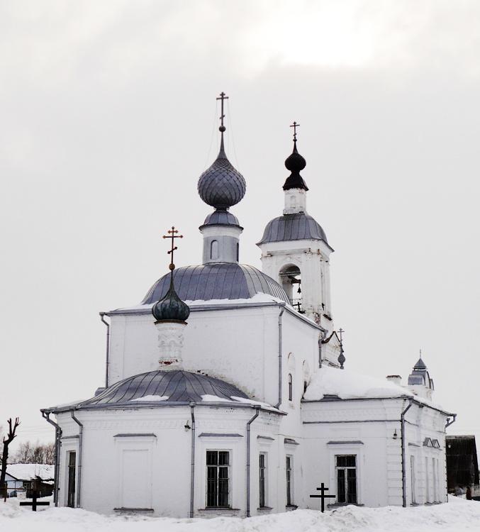 Ивановская область, Приволжский район, Толпыгино. Церковь Воскресения Словущего, фотография. фасады, Вид с алтарной (восточной) стороны