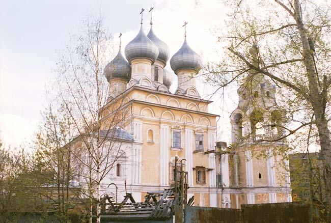 Вологодская область, Вологда, город, Вологда. Церковь Константина и Елены, фотография. общий вид в ландшафте, с-в