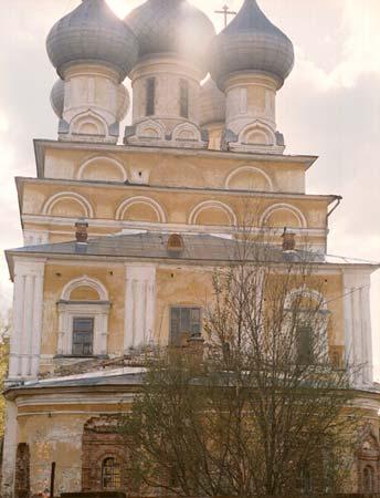 Вологодская область, Вологда, город, Вологда. Церковь Константина и Елены, фотография. фасады, восток