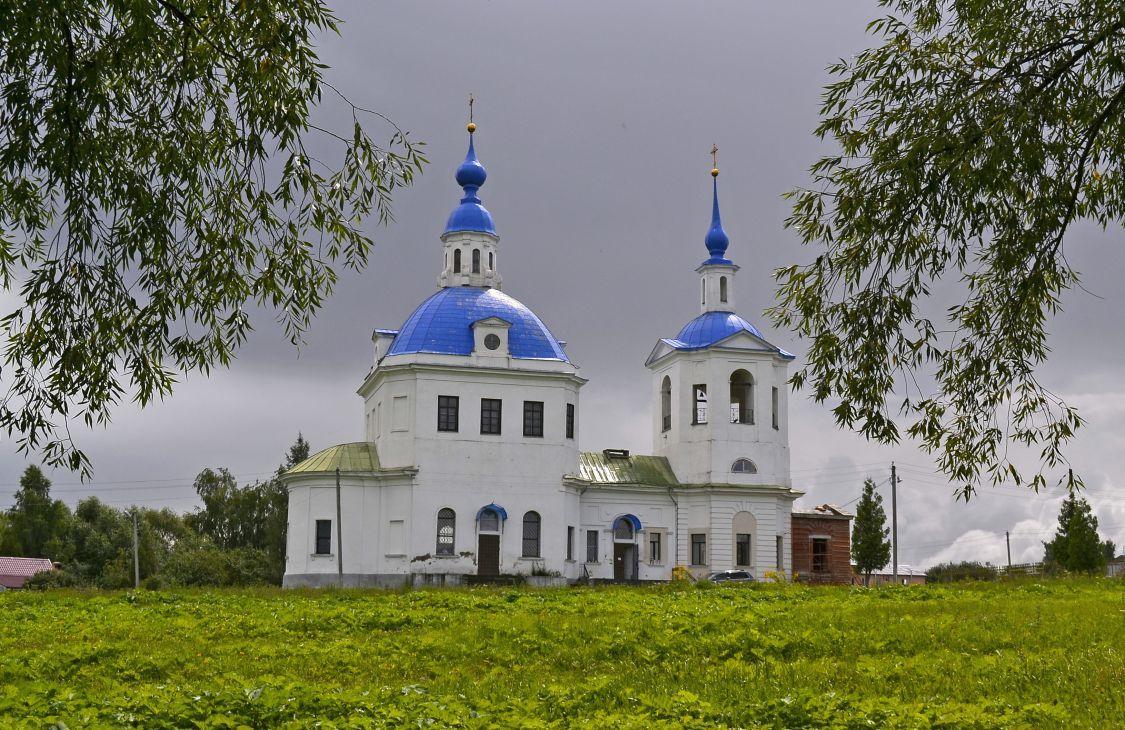 Московская область, Каширский городской округ, Кокино. Церковь Богоявления Господня, фотография. художественные фотографии