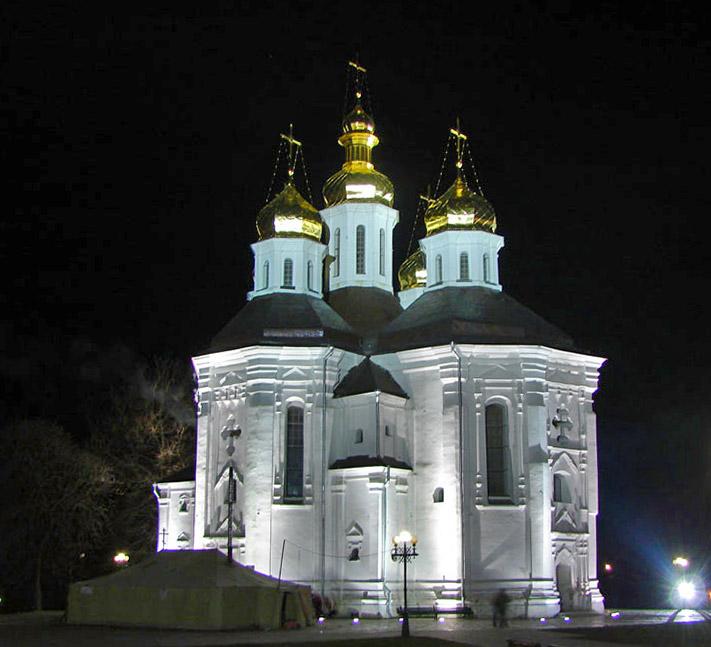 Украина, Черниговская область, Чернигов, город, Чернигов. Церковь Екатерины, фотография. художественные фотографии, Пасхальная ночь