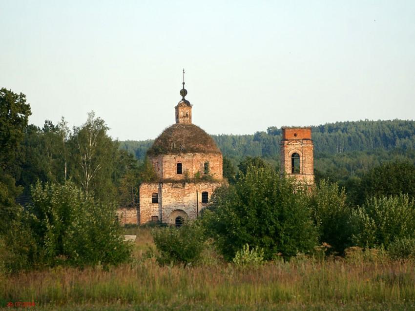 Церковь Владимирской иконы Божией Матери-Зубово-Юхновский район-Калужская область