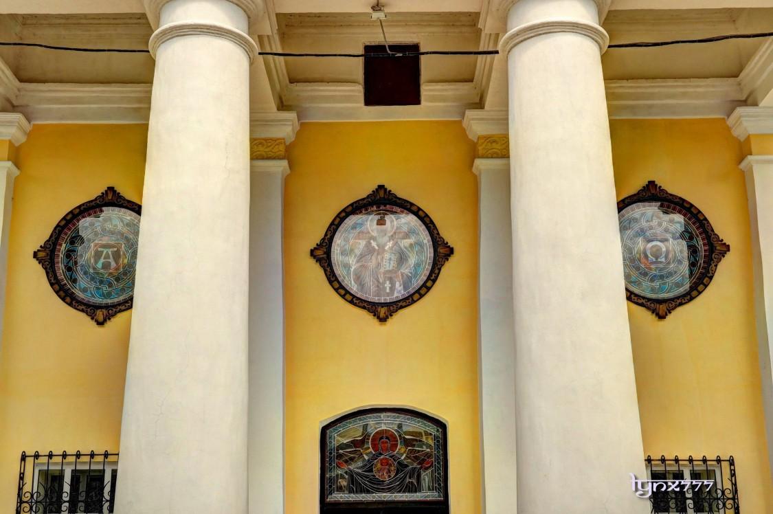 Владимирская область, Вязниковский район, Мстёра. Церковь Иоанна Милостливого, фотография. фасады, витражи