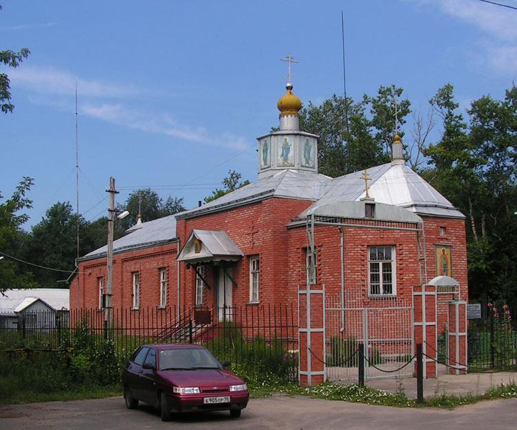 Московская область, Орехово-Зуевский городской округ, Кабаново. Церковь Никиты мученика, фотография. общий вид в ландшафте