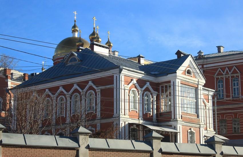 Самарская область, Самара, город, Самара. Иверский женский монастырь, фотография. фасады, Настоятельский корпус