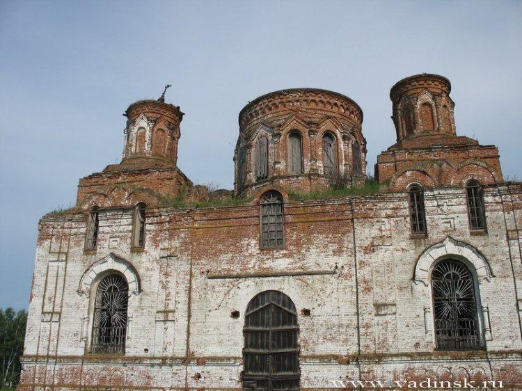 Пензенская область, Вадинский район, Большая Лука. Церковь Михаила Архангела, фотография. фасады