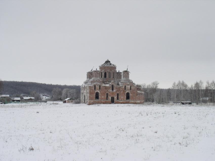 Пензенская область, Вадинский район, Большая Лука. Церковь Михаила Архангела, фотография. общий вид в ландшафте
