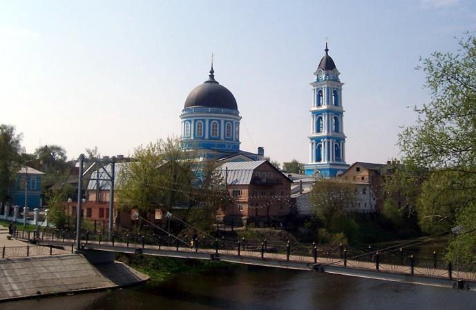 Московская область, Богородский городской округ, Ногинск. Собор Богоявления Господня, фотография. общий вид в ландшафте